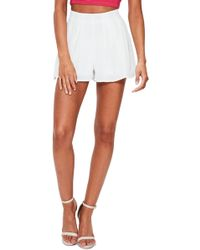 Missguided - Floaty Pleat Shorts - Lyst