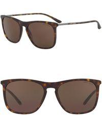 Giorgio Armani - Square 56mm Sunglasses - Lyst