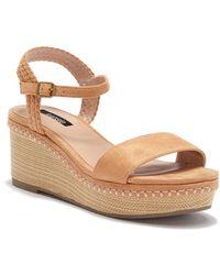 Kensie - Timothy Wedge Platform Sandal - Lyst