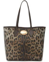 Roberto Cavalli - Leather Tote Bag - Lyst
