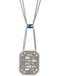 Freida Rothman - Modern Mosaic Cz Tesserae Pendant Necklace - Lyst
