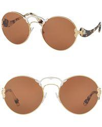 f875186b651 Lyst - Prada Rectangle 64mm Sunglasses in Metallic for Men