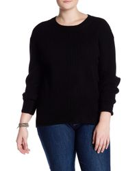 NAKEDCASHMERE - Olive Ribbed Cashmere Sweater (plus Size) - Lyst
