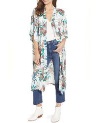 Trouvé - Floral Kimono - Lyst