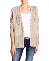 Miss Me - Embroidered Hi-lo Cardigan - Lyst