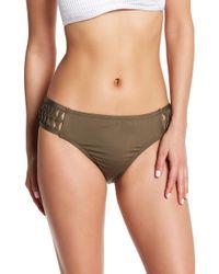 Kenneth Cole - Lattice Tab Hipster Bikini Bottom - Lyst
