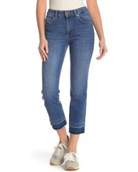 French Connection - High Rise Straight Leg Jeans - Lyst