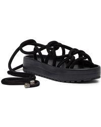 AllSaints - Kofu Wrap-around Ankle Platform Sandal - Lyst
