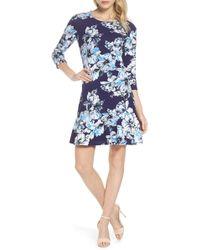 Eliza J - Drop Waist Dress - Lyst
