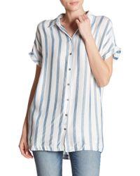 Dress Forum - Short Sleeve Striped Collar Shirt - Lyst