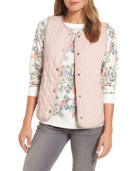 Caslon - Caslon Collarless Quilted Vest - Lyst