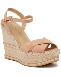 Stuart Weitzman | Sundry Suede Wedge Sandal - Multiple Widths Available | Lyst
