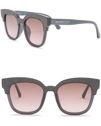 f240e5f1d2f Lyst - Jimmy Choo Mayela s Purple Glitter Square Sunglasses in Purple