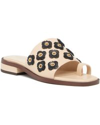 Cole Haan - Carly Floral Leather Sandal - Lyst