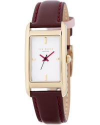 Ted Baker - Women's Bliss Leather Watch - Lyst