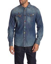 DIESEL - Long Sleeve Denim Shirt - Lyst