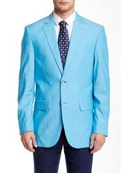 Perry Ellis - Blue Chambray Two Button Notch Lapel Sport Coat - Lyst