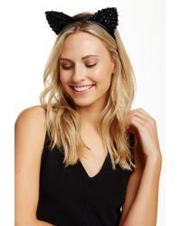 Noir Jewelry - Sparkle Jet Bead Cat Ear Headband - Lyst