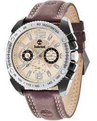 Timberland - Men's Bennington Leather Strap Watch, 49mm - Lyst