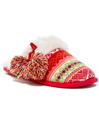 Dearfoams | Fairisle Faux Fur Lined Slipper | Lyst