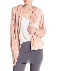 Splendid - Wedge Velour Hooded Jacket - Lyst