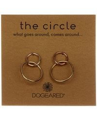 Dogeared - 'the Circle' Double Ring Drop Earrings - Lyst
