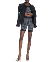 Opening Ceremony - Stencil Banded Bike Shorts - Lyst