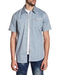 Xray Jeans - Heart Print Short Sleeve Slim Fit Shirt - Lyst