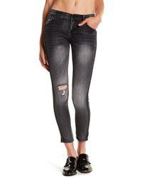 aecb398ad31 Jolt - Distressed Embellished Skinny Jeans (juniors) - Lyst