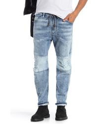 DIESEL - Narrot Distressed Jogger Jeans - Lyst