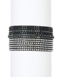 Swarovski - Multi Row Crystal Wrap Bracelet - Lyst