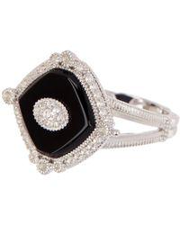 Judith Ripka - Sterling Silver Westport Diagonal Cushion Stone Ring - Lyst