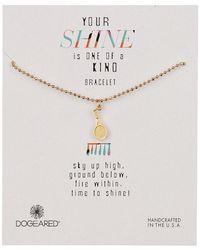Dogeared - 14k Gold Vermeil Your Shine Tennis Charm Bracelet - Lyst