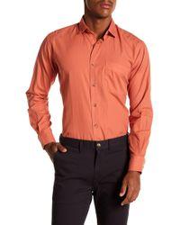 Peter Millar - Mountainside Regular Fit Garment Dyed Long Sleeve Shirt - Lyst