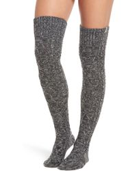 UGG - Cable Knit Over The Knee Socks - Lyst