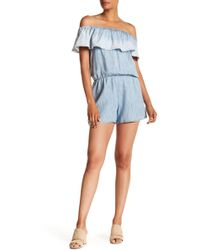 Michael Stars - Off-the-shoulder Ruffle Romper - Lyst