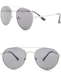 William Rast - Men's 56mm Modified Round Sunglasses - Lyst