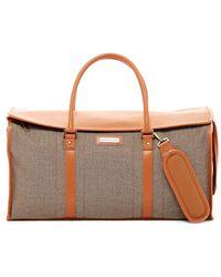 Hartmann - Terracotta Jacquard Twill Leather Duffel Bag - Lyst