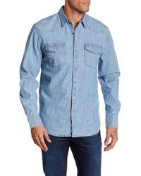Lucky Brand - Chambray Long Sleeve Regular Fit Shirt - Lyst