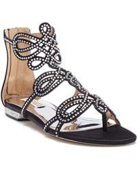 Badgley Mischka - Tempe Embellished Sandal - Lyst
