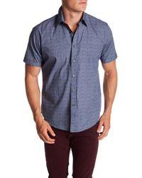 James Campbell - Breville Woven Short Sleeve Shirt - Lyst
