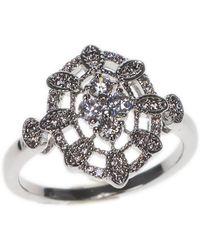 CZ by Kenneth Jay Lane - Cz Detail Filigree Ring - Lyst