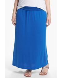 Lily White - Foldover Maxi Skirt (juniors Plus) - Lyst