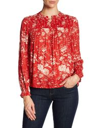 Lucky Brand | Ruched Pattern Blouse | Lyst