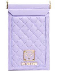 Love Moschino - Quilted Cellphone Case - Lyst