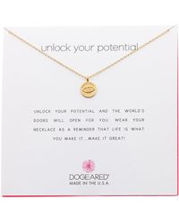 Dogeared - Unlock Your Potential Eye Pendant Necklace - Lyst