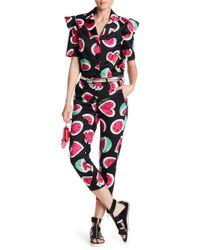 Love Moschino - Watermelon Printed Cropped Pants - Lyst