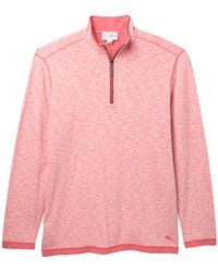 Tommy Bahama - Sea Glass Reversible Half Zip Sweatshirt (big & Tall) - Lyst