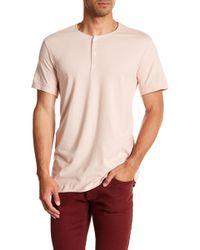 Kenneth Cole - Dressy Henley Shirt - Lyst