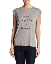 BCBGeneration - Rolled Cuff Graphic Tee - Lyst
